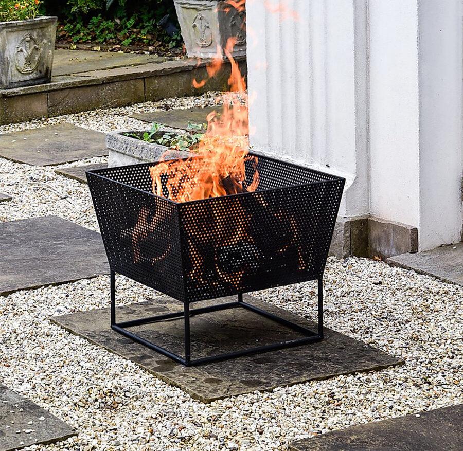 Outdoor Norfolk Firebowl Black Iron