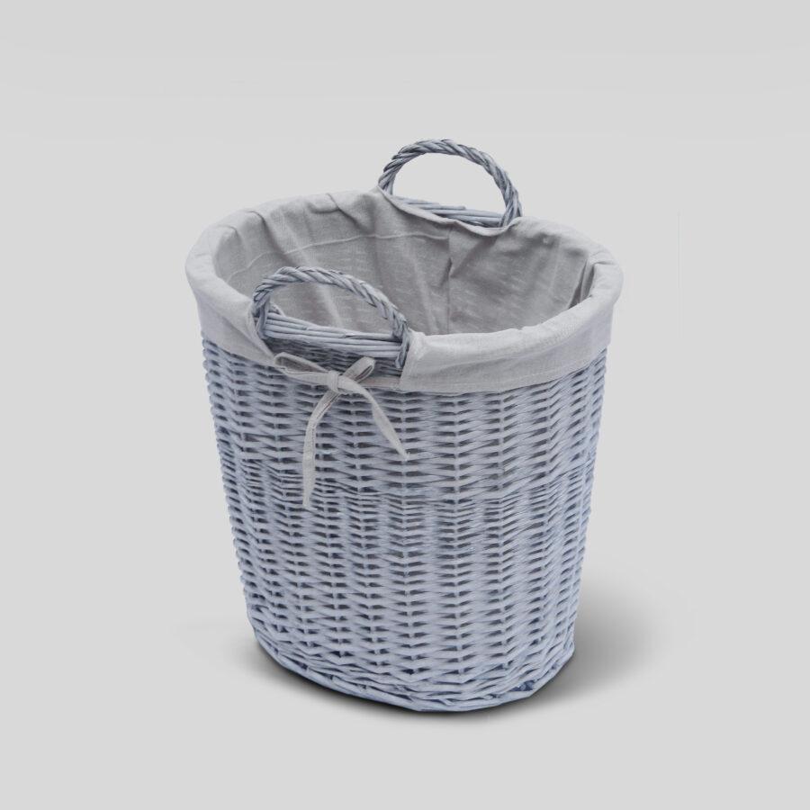 Buff Grey Round Log Basket